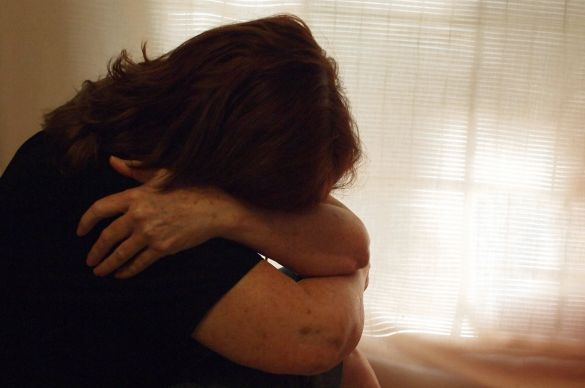 Domestic abuse; photo illustration by Ronny Perry, United Methodist Communications