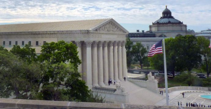 A view of the Supreme Court of the United States taken from The United Methodist Building in Washington. Photo by Clayton Childers, United Methodist Board of Church and Society