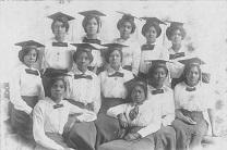 Female graduates of Philander Smith College in Arkansas are seen in archival image. Photo courtesy of United Methodist General Commission on Archives and History