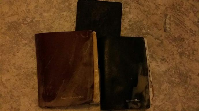 Three family Bibles were found in Stephanie Hope's flooded home in Louisiana. Photo courtesy of Stephanie Hope.