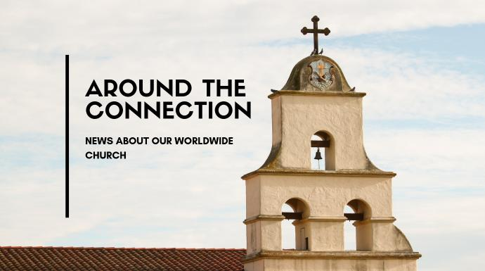 Image of a church steeple represents the global nature of The United Methodist Church. Image courtesy of the Connectional Table. Created in CANVA.