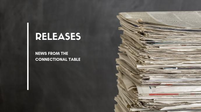 Press releases related to the Connectional Table. Image of a stack of newspapers courtesy of the Connectional Table. Created in Canva.