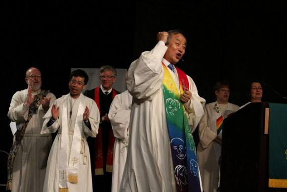 Bishop Hee-Soo Jung of the Wisconsin Conference is pictured. 'Live the Fruit of the Spirit' was the theme for the annual session held June 7-10, 2013 at the Marriott Madison West in Middleton.