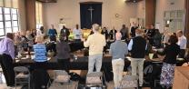 Members of the Commission on a Way Forward participate in a letting-go prayer  at the end of their four-day meeting at El Segundo United Methodist Church in Los Angeles on Thursday, March 22.
