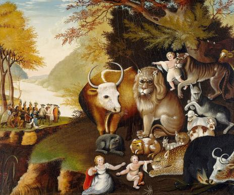 In his Christmas message, Bishop Carter encourages the church to be a sign of God's peaceable kingdom, as shown in this famous painting by Edward Hicks titled