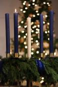 Advent wreath - blue candles
