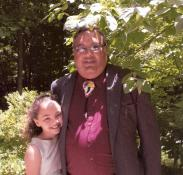 Carson Jones and his daughter, Sade, 12