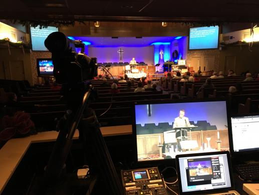 A simple set up allows many to be a part of the video streaming ministry of Killearn United Methodist Church in Tallahassee, Florida.