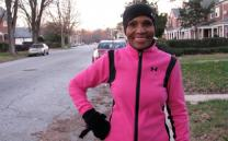 Ernestine Shepherd runs 10 miles a day. Video image by Barry Simmons.