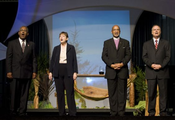 United Methodist agency leaders sing
