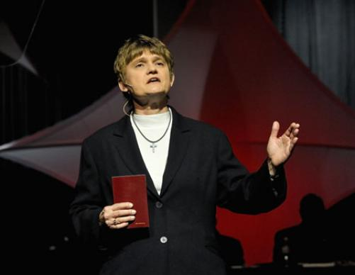 Lyn Powell, lay leader of the North Georgia Annual (regional) Conference, delivers the Laity Address April 24 to the 2008 United Methodist General Conference in Fort Worth, Texas.