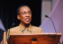 The Rev. Dorothy Watson Tatem urges General Conference delegates to continue Strengthening the Black Church for the 21st Century.