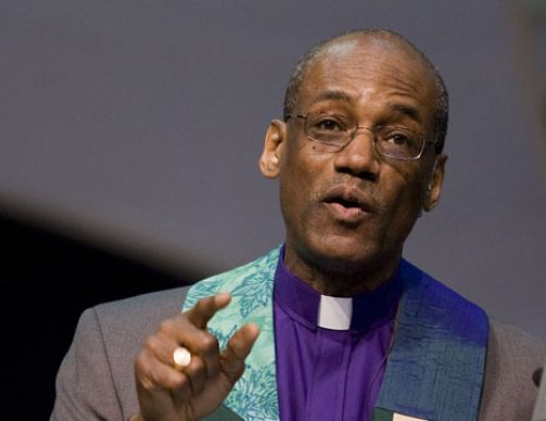 United Methodist Bishop Ernest S. Lyght gives the sermon during morning worship on April 28 at the 2008 United Methodist General Conference in Fort Worth, Texas.