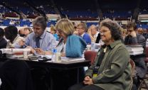 Delegates consider legislation at the 2008 United Methodist General Conference, where the assembly voted to add wording to the liturgy for profession of membership. Henceforth, people joining United Methodist churches will promise to be faithful in