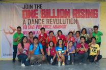 Some 200 faculty and students of Wesleyan University-Philippines in Cabanatuan City joined the One Billion Rising movement to fight violence against women.