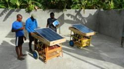Thomas Project in Haiti provides solar powered carts supporting technology in a local school.