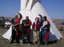 Descendants of survivors of the 1864 Sand Creek massacre attend the April 2007 dedication of the Sand Creek Massacre National Historic Site near Chivington, Colo. A UMNS file photo by the Rev. Carol Lakota Eastin.