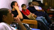 Young men attend a bible study at the home of The Rev. Keith Kaufold as part of 8th Avenue ministry.