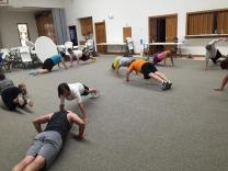 Physical fitness at Carson UMC in Iowa