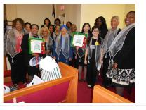 Jennifer Lim (fifth from right) attends a human rights celebration hosted by Church Women United (CWU).
