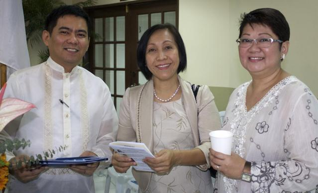 Phebe Crismo, center, is executive secretary of the Board of Christian Education and Discipleship, which partners with the Philippine Bible Society to put on the National Bible Quiz.