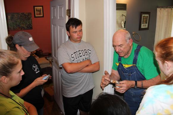 An intergenerational carpentry class replaced the traditional Sunday morning class for male teens at Dalton First United Methodist Church. The teens learned woodworking -- and about life and faith.