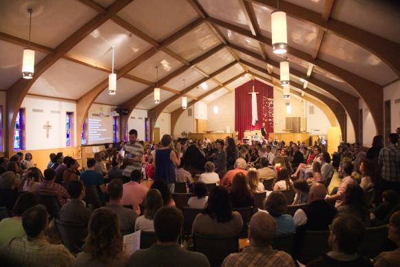 There was a packed house for Easter 2015 worship at Servant Church in Austin, Texas.