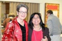 Northern Illinois Conference Bishop Sally Dyck and Ruby Bago at the General Board of Global Ministries Asian Language Ministry Advisory Committee in Chicago in November 2014.