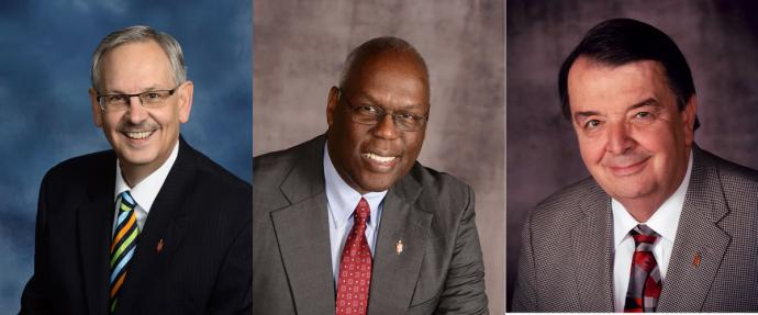 Bishop Bruce R. Ough, Bishop Warner H. Brown Jr., Bishop Michael J. Coyner