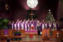 The Chancel Choir is one of many musical ministry opportunities for members of Old North United Methodist Church in Evansville, Ind.