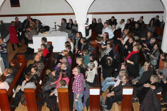 Although only a small percentage of Danes are regular churchgoers, the pews at Jerusalemskirken United Methodist are often full.
