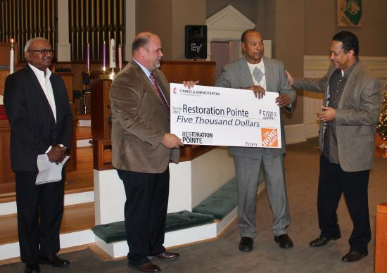 Pictured (left to right) are Moses Kumar, Michael Daniel, Bobby Smith and the Rev. Stephen Handy, pastor, McKendree United Methodist Church, Nashville, Tenn.