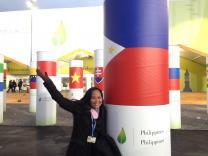 Flipino delegate at COP21