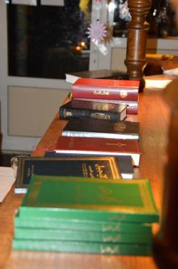 Bibles have been printed in several languages for distribution to refugees.