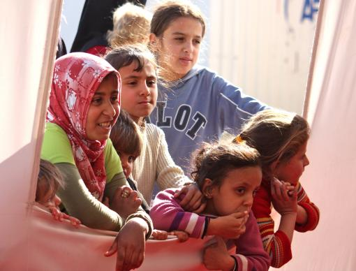 UMCOR suports child-friendly spaces in camps for Syrian refugees living in Turkey.