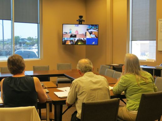 At least 14 videoconference sites across the Great Plains Conference groups ranging from small committees to most of the lay and clergy members to have virtual face-to-face meetings with much less travel required.