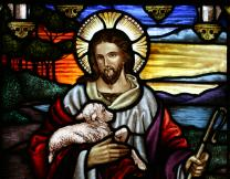 Jesus as the Good Shepherd.