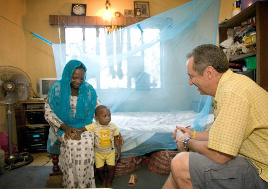 "In 2006, Sports Illustrated columnist Rick Reilly visited Yesirat Gafani and her son, Afusat, to see a mosquito net at their home in Nigeria. The ""Nothing But Nets"" campaign — the predecessor to Imagine No Malaria – provided the net."