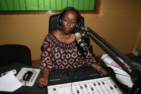 Lydie Acquah is director of 101.6 FM in Abidjan, Cote d'Ivoire. The United Methodist Church launched the station, known as the Voice of Hope, in December 2009.