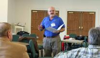 Johnnie Draughon leads a training session in the Virginia Conference.