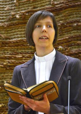 The Rev. Lilla Lakatos has pastored in Óbuda, Dombóvár, Szeged, and Alsózsolca, Hungary.  Photo courtesy of The Rev. Lilla Lakatos.