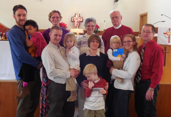 The Rev. Tom Petersen poses with members of his family in December 2013. Photo courtesy of the Rev. Tom Petersen.