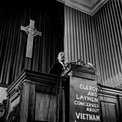 The Rev. Martin Luther King Jr. speaks Feb. 6, 1968, during a meeting at the New York Avenue Presbyterian Church in Washington. Web-only photos copyrighted by John C. Goodwin.