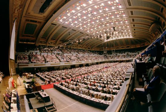 The last General Conference met in Cleveland in 2000. UMNS file photo by John C. Goodwin
