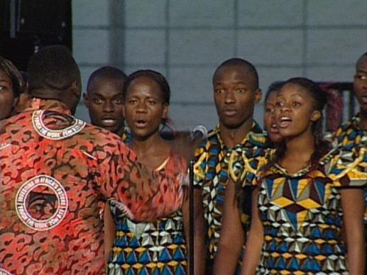 General Conference 2004: Africa University Report. Video still by United Methodist Communications