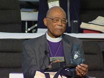 General Conference 2004: Bishop Thomas Recognized. Video still by United Methodist Communications