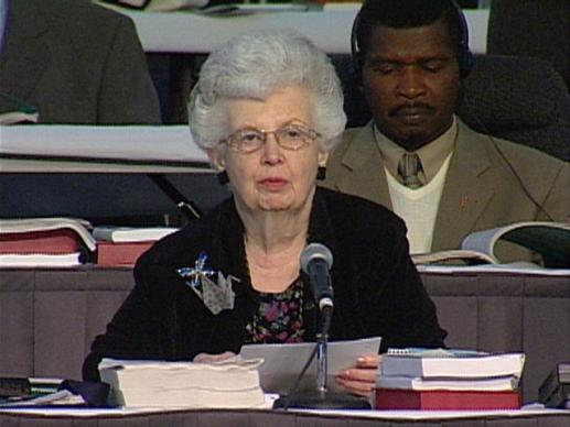General Conference 2004: Carolyn Marshall: Secretary of General Conference. Video still by United Methodist Communications