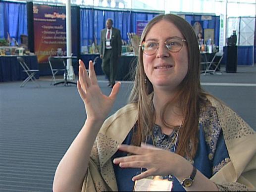 The Rev. Elke Betz-Schmidt is an associate pastor at Christ UMC for the Deaf in Baltimore.