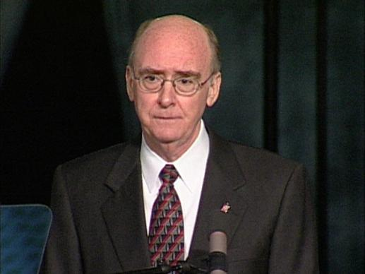 General Conference 2004: Episcopal address - Bishop  Carder. Video still by United Methodist Communications