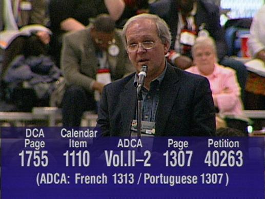 General Conference 2004: Igniting Ministry. Video still by United Methodist Communications